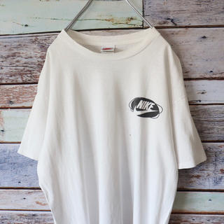 ナイキ(NIKE)のNIKEナイキ 銀タグ USA製 Tシャツ バックプリント ホワイト(Tシャツ/カットソー(半袖/袖なし))