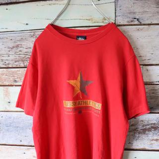 ステューシー(STUSSY)のstussy ステューシー USA製 Tシャツ レッド S(Tシャツ/カットソー(半袖/袖なし))