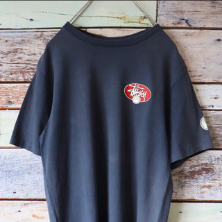 ステューシー(STUSSY)のstussy ステューシー USA製 Tシャツ バックプリント  ネイビー S(Tシャツ/カットソー(半袖/袖なし))