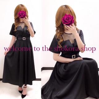 メルロー(merlot)の新品❤︎ メルロープリュス チュール 切替 ロング ワンピース ドレス(ロングドレス)