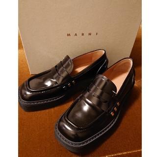 Marni - 【未使用】Marni スクエアトゥ ローファー