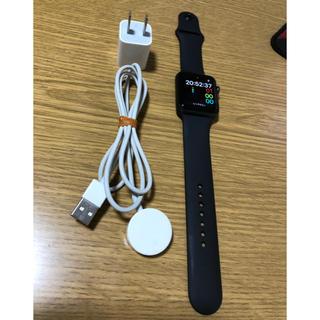 アップルウォッチ(Apple Watch)のApple Watch series3 42mm gpsモデル 完動品(腕時計(デジタル))