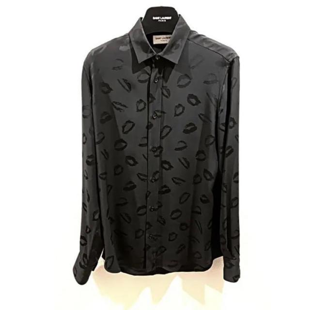 Saint Laurent(サンローラン)の⭐️ 期間限定 レア サンローラン エディ リップ  ブラック シャツ 37 メンズのトップス(シャツ)の商品写真