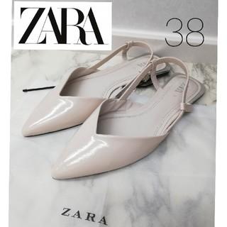 ザラ(ZARA)の★新品タグ付き★ZARA フラット スリングバックシューズ 38(ハイヒール/パンプス)