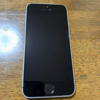 iPhone - iPhone SE 128GB 本体 グレー uq(au回線) おまけ付