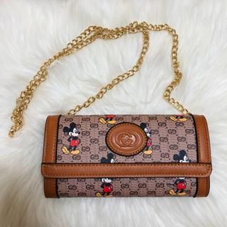 Gucci - 「1点のみ」GUCCI ミッキー 財布 ショルダーバッグ
