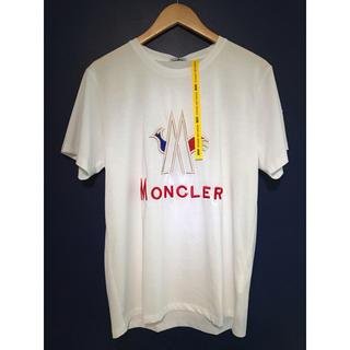 モンクレール(MONCLER)のモンクレ/moncler/トリコロール/L/半袖/Tシャツ/白/新品/(Tシャツ/カットソー(半袖/袖なし))