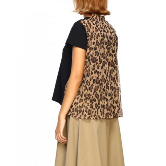 sacai(サカイ)のお盆 SALE❗️sacai♡レオパード  Tシャツ レディースのトップス(Tシャツ(半袖/袖なし))の商品写真