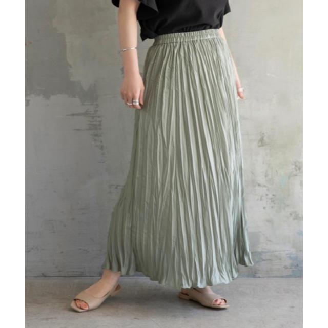 LOWRYS FARM(ローリーズファーム)のワッシャープリーツスカート レディースのスカート(ロングスカート)の商品写真