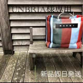 マルニ(Marni)の新品未開封 MARNI ストライプバッグ ラッカーレッド UNBRIA様専用(トートバッグ)