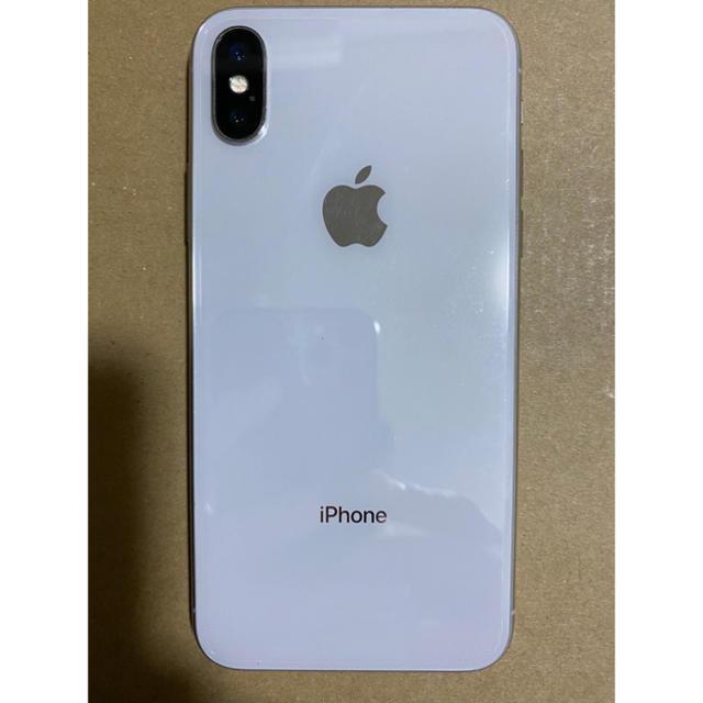 iPhone(アイフォーン)のiPhone X 本体 64GB シルバー スマホ/家電/カメラのスマートフォン/携帯電話(スマートフォン本体)の商品写真