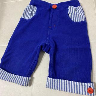 ムージョンジョン(mou jon jon)のロールアップパンツ 100 小さめ ブルー パンツ moujonjon(パンツ/スパッツ)