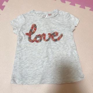 ザラ(ZARA)のZARA Baby girl 花ロゴ Tシャツ 100cm ザラ Love(Tシャツ/カットソー)