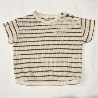 futafuta - (80cm)teteateteテータテート▲ワッフルボーダーTシャツ