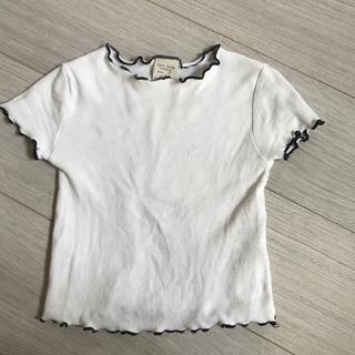ザラ(ZARA)のZARAトップス  白116㎝(Tシャツ/カットソー)