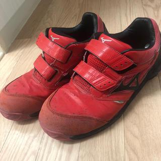MIZUNO - 安全靴 28㎝ ミズノ 赤