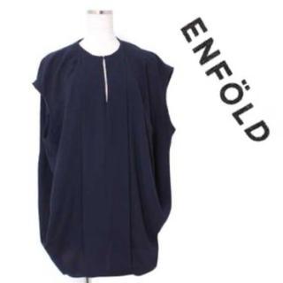 エンフォルド(ENFOLD)のENFOLD トップス ネイビー(カットソー(半袖/袖なし))