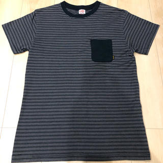キャリー(CALEE)のCALEEキャリー ボーダーTシャツ ポケT 美品(Tシャツ/カットソー(半袖/袖なし))