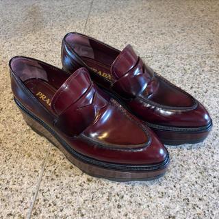 プラダ(PRADA)のPRADA オックスフォードローファー 36.5サイズ(ローファー/革靴)