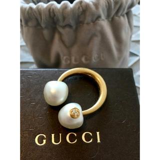 Gucci - GUCCI パール風リング 未使用