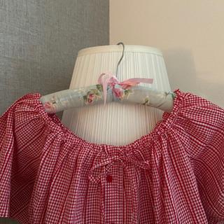 ハニーミーハニー(Honey mi Honey)のgingham check short blouse(シャツ/ブラウス(半袖/袖なし))