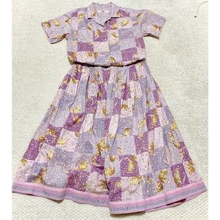 PINK HOUSE - くまブーケシャツ&スカートセット オールドピンクハウス