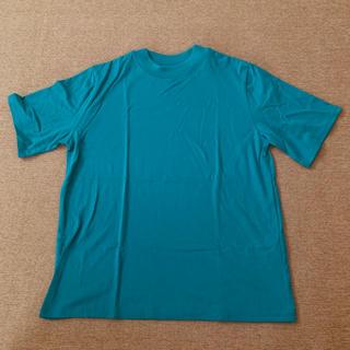 センスオブプレイスバイアーバンリサーチ(SENSE OF PLACE by URBAN RESEARCH)の美品◎SENSE OF PLACE ターコイズ モックネック 半袖 Tシャツ(Tシャツ(半袖/袖なし))