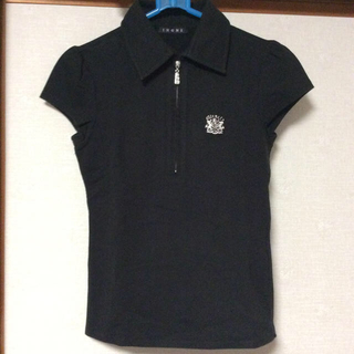 イング(INGNI)のINGNI の黒いポロシャツ(カットソー(半袖/袖なし))