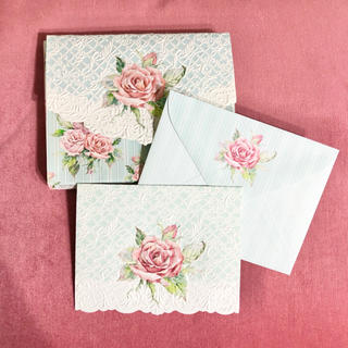 フランフラン(Francfranc)のアメリカ製 BOX入りカード 封筒・カード各6セット(カード/レター/ラッピング)