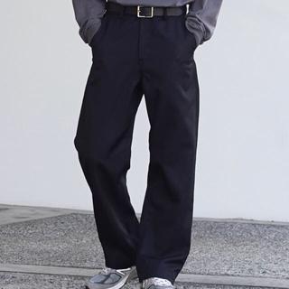 """アンユーズド(UNUSED)のorder loose twill pants """"black""""(スラックス)"""