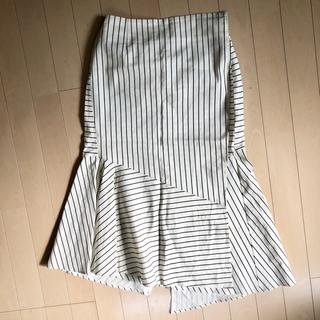 ノーブル(Noble)のマーメイド巻きストライプスカート(ひざ丈スカート)