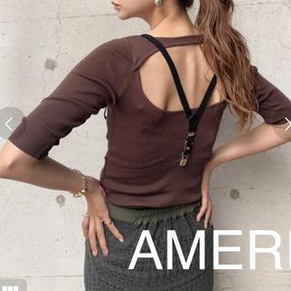 Ameri VINTAGE - AMERI バックオープン サマーニット フリーサイズ
