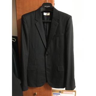 サンローラン(Saint Laurent)のサンローラン ストライプ 2B ジャケット 美品 シャツ デニム(テーラードジャケット)