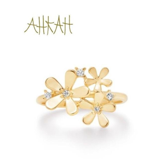 AHKAH - AHKAH アーカー フルールブリリアン リング K18 ダイヤ