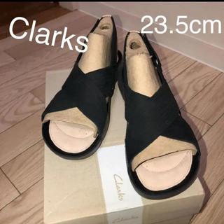 クラークス(Clarks)のクラークス ストラップ レディース サンダル 新品 サイズ37 23.5 黒(サンダル)