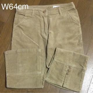 ニッセン(ニッセン)のW64cm 七分丈パンツ コーデュロイ   キャメル(カジュアルパンツ)