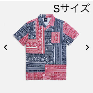 KITH PATCHWORK CAMP SHIRT Sサイズ パッチワークシャツ(シャツ)