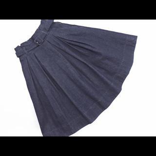 バーバリーブルーレーベル(BURBERRY BLUE LABEL)の早い者勝ち!ブルーレーベルクレストブリッジ デニム スカート(ひざ丈スカート)