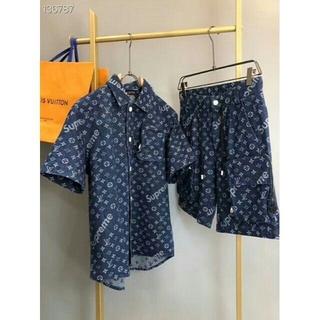 モンクレール(MONCLER)のルイヴィトン 上下セットTシャツ&ショートパンツ男女兼用(Tシャツ/カットソー(半袖/袖なし))