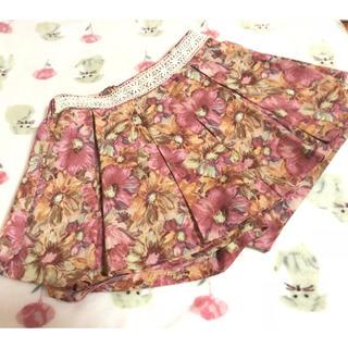 リズリサ(LIZ LISA)のLIZ LISA★花柄ピンクスカート(ミニスカート)