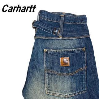 カーハート(carhartt)の【Carhartt】デニム ストレートパンツ シンチバック 30(デニム/ジーンズ)