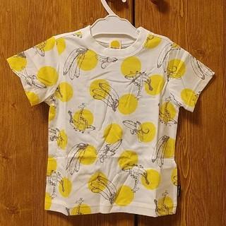 mou jon jon - moujonjon ムージョンジョン 100 キリン&バナナ柄 半袖Tシャツ