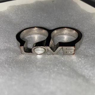 ロキエ(Lochie)のvintage 三連 ストーン リング 指輪(リング(指輪))