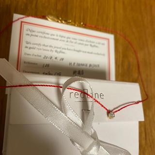 アッシュペーフランス(H.P.FRANCE)のレッドライン ダイヤモンド ネックレス(ネックレス)