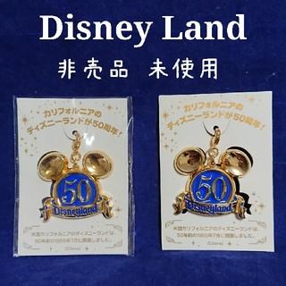 Disney - ディズニーランド カルフォルニア50周年 来園特典 非売品 ピンバッジ 未開封