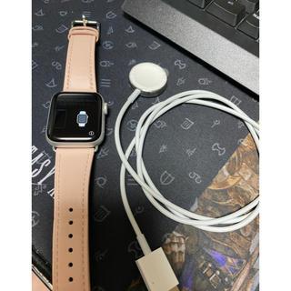 アップルウォッチ(Apple Watch)のApple Watch 4  40mm  アルミニウム GPSモデル 極美品(腕時計(デジタル))