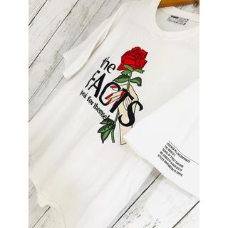 オフホワイト(OFF-WHITE)の純愛一本薔薇。初版極限定LEGENDATシャツ韓国 Agem FR2 アイナナ(Tシャツ/カットソー(半袖/袖なし))