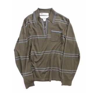 サンシー(SUNSEA)のdairiku 20aw ポロシャツ カーキ(ポロシャツ)