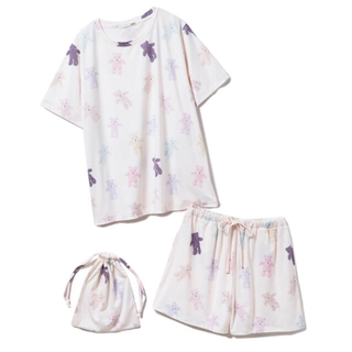 gelato pique - ジェラートピケ♡オンライン限定♡テディベア柄 Tシャツ&ショートパンツ セット♡
