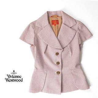 ヴィヴィアンウエストウッド(Vivienne Westwood)のヴィヴィアンウエストウッド ワイド襟◎ステッチボーダー ジャケット(テーラードジャケット)